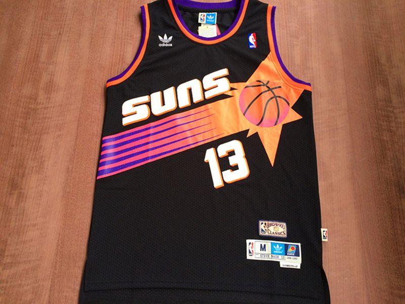 lowest price 589c4 4bc9e Phoenix Suns  13 Steve Nash Black Swingman Throwback Jersey