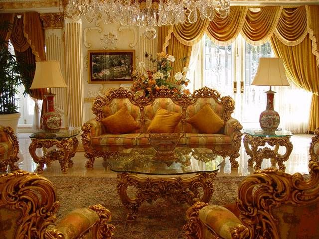 Palatial House Interior, I Love This One Beautiful Gold Interiors,Cozy,very  Calm