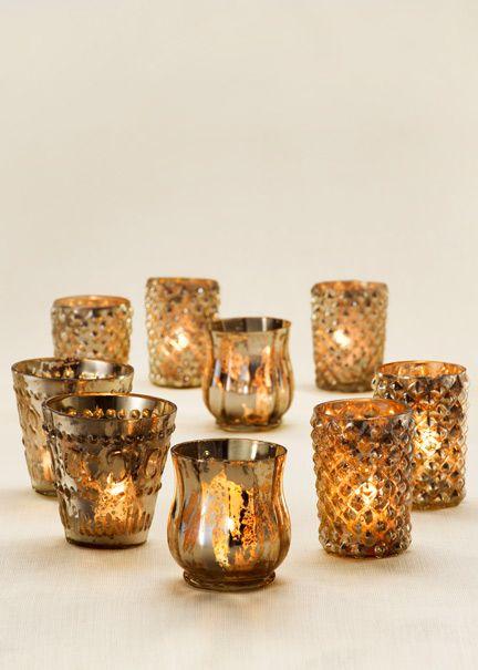 84f9de541 For A Vintage Look  Mercury Glass Votive Holders