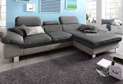 Cotta Polsterecke Mit Recamiere Wahlweise Bettfunktion Couch Sofa Ecksofa