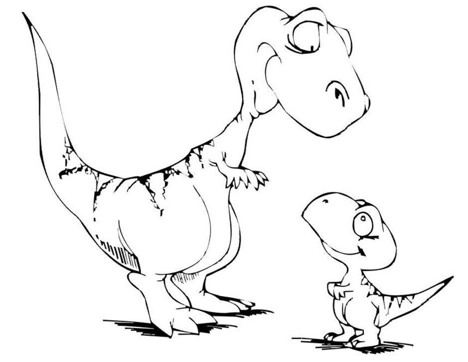 Dinosaur Printable Coloring Pages Coloring Pages Dino Party