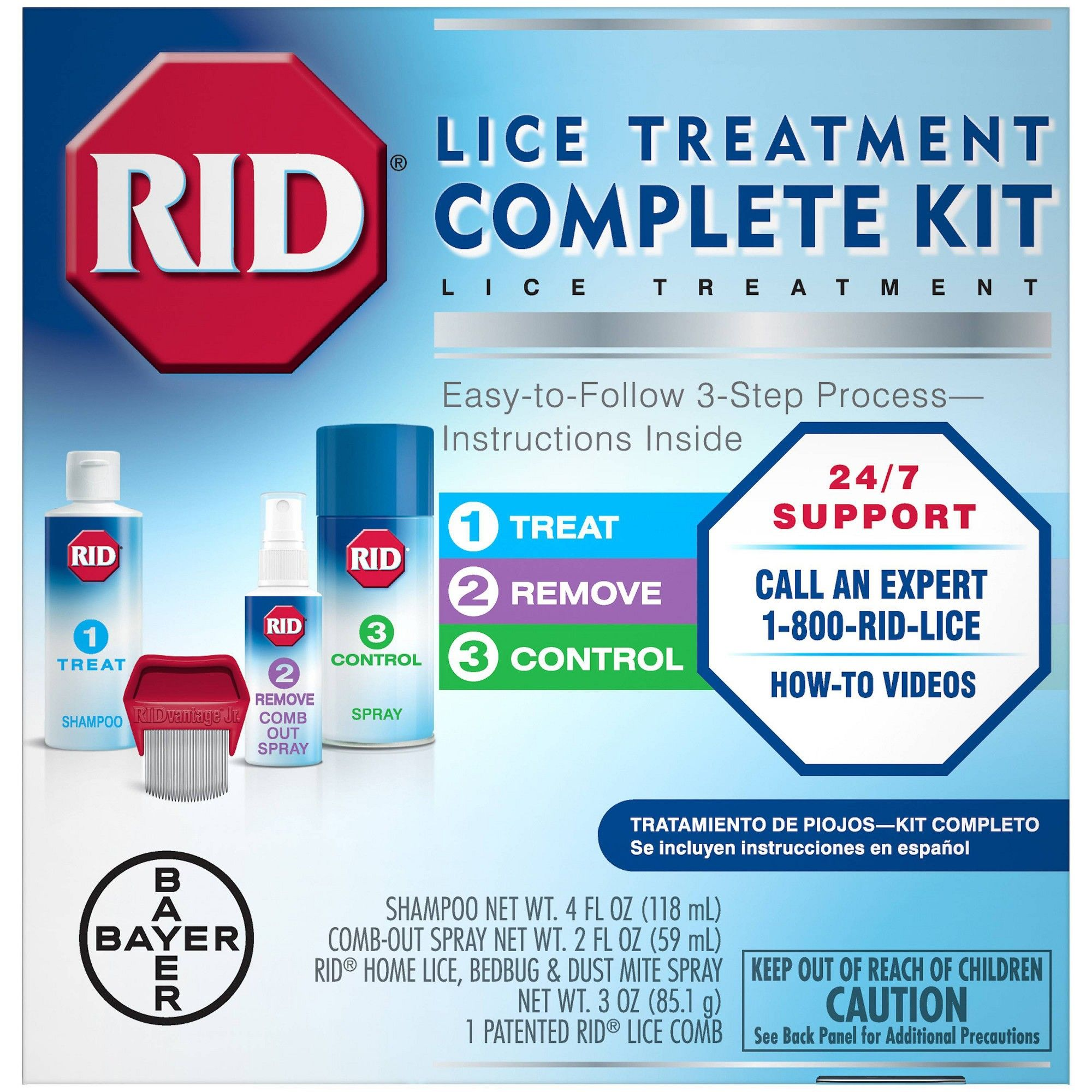 RID Complete Lice Elimination Kit Foster care, The