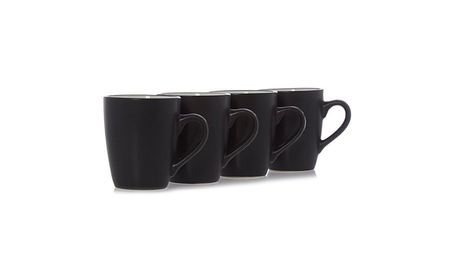 Buy George Home Liquorice Mugs Set Of 4 From Our Cups Mugs