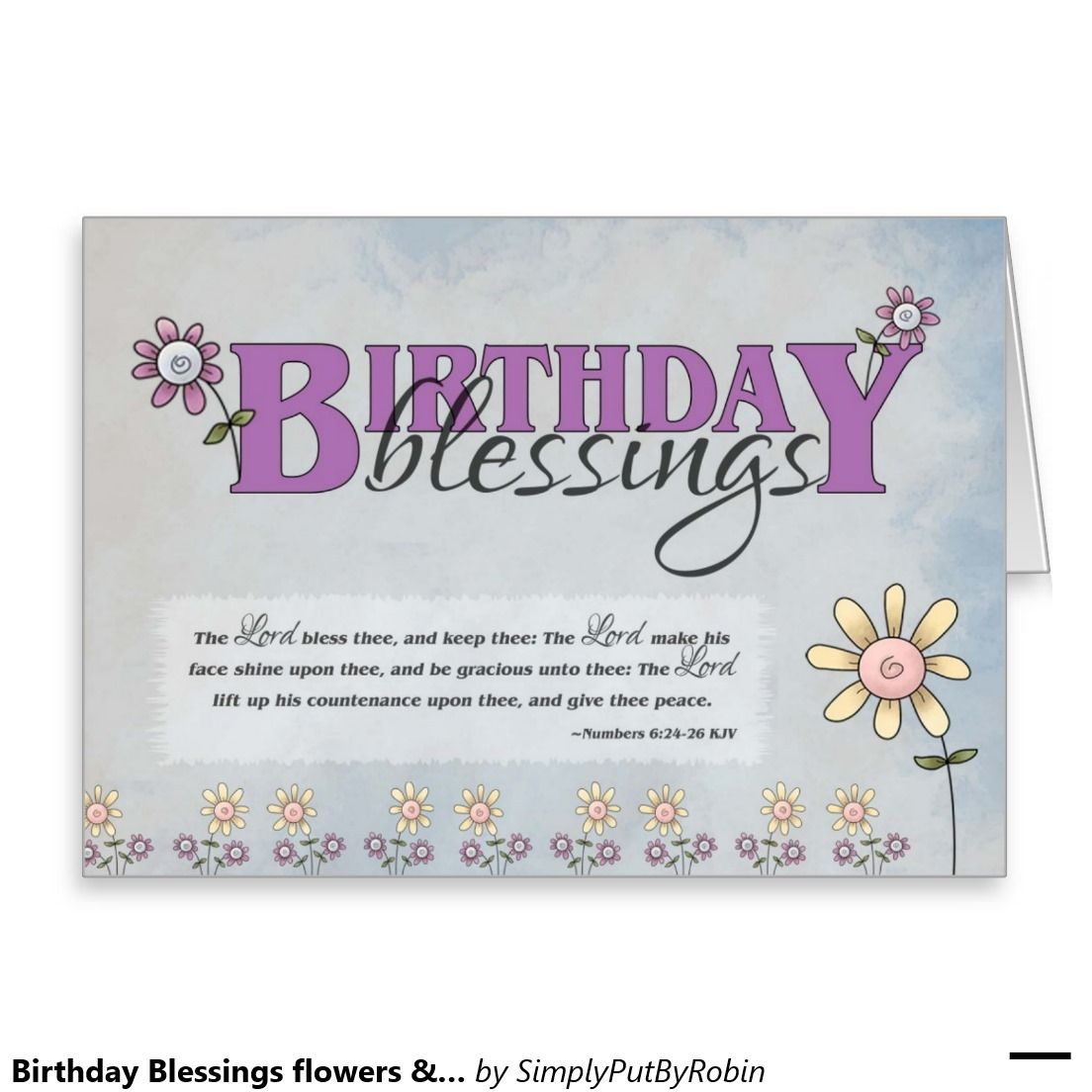Birthday Blessings Flowers Bible Verse Card Favorites