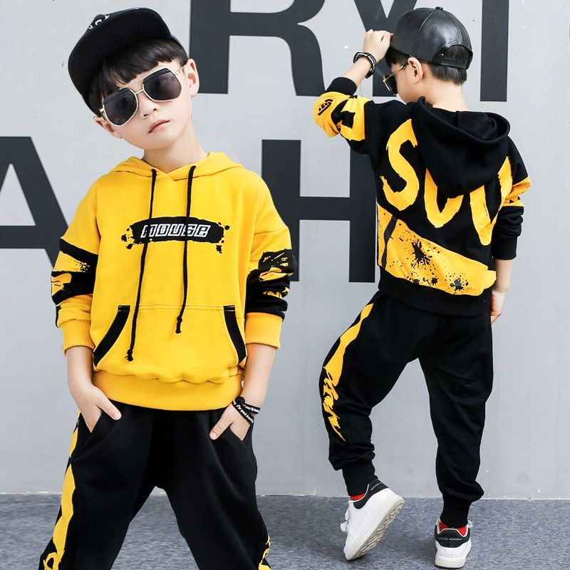 Kid Baby Boys KING Print HipHop Tracksuit Outfits T-shirt Tops Pants Sportswear