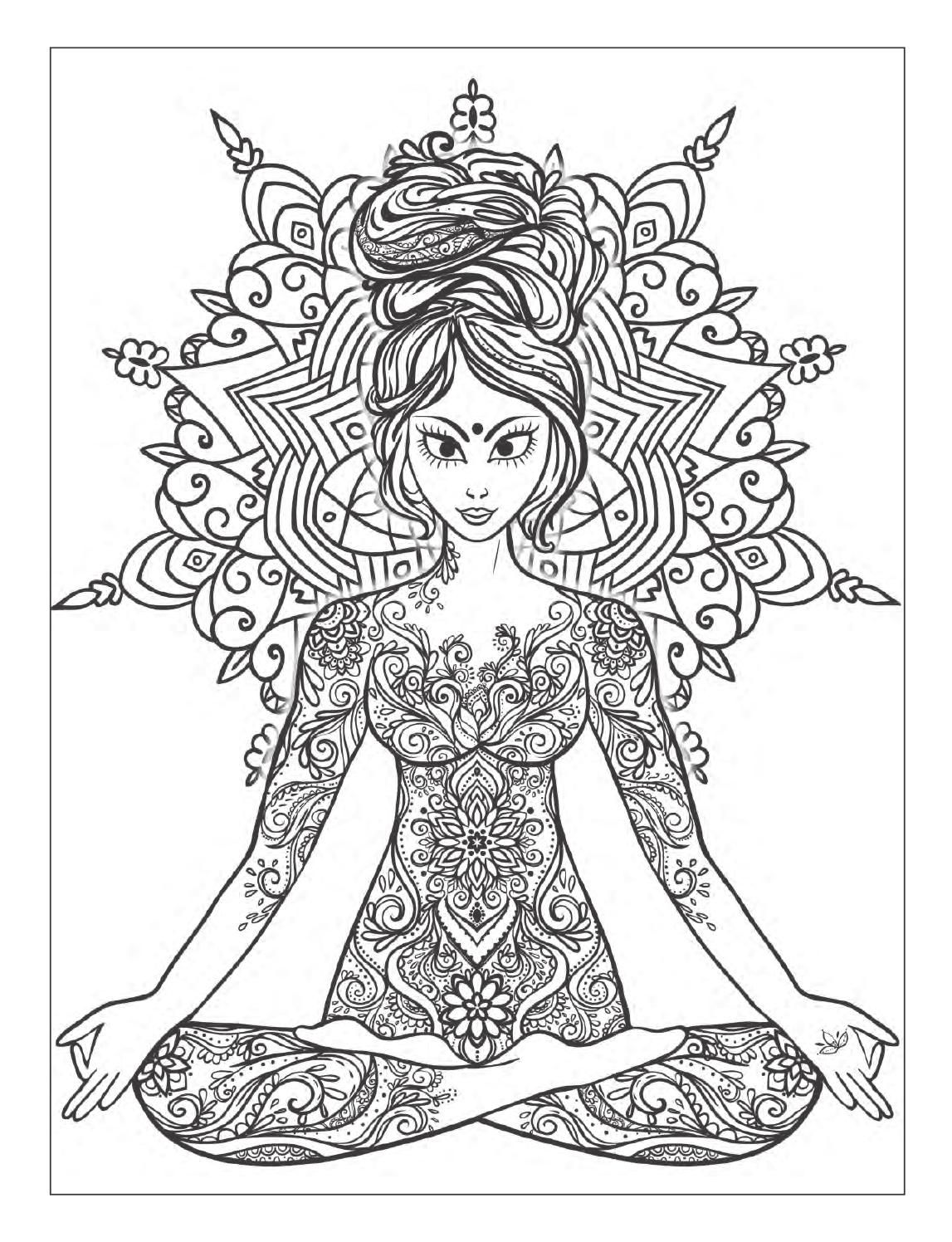 free meditation coloring pages - photo#41