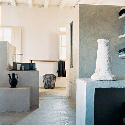 peindre des murs la chaux pinterest style grec chaux et grec. Black Bedroom Furniture Sets. Home Design Ideas