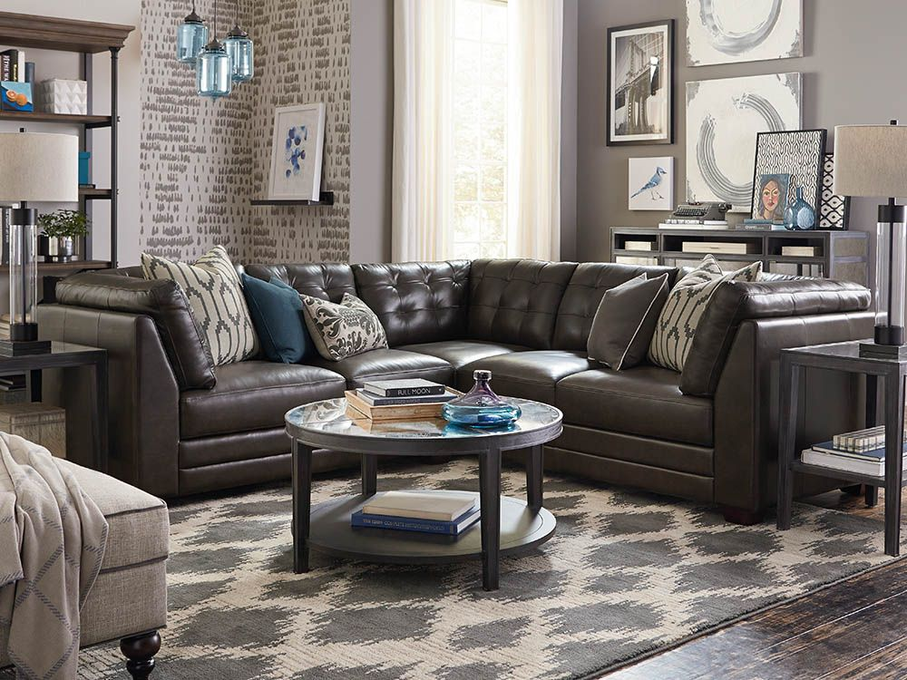 Affinity Small L-Shaped Sectional   Leather sectional