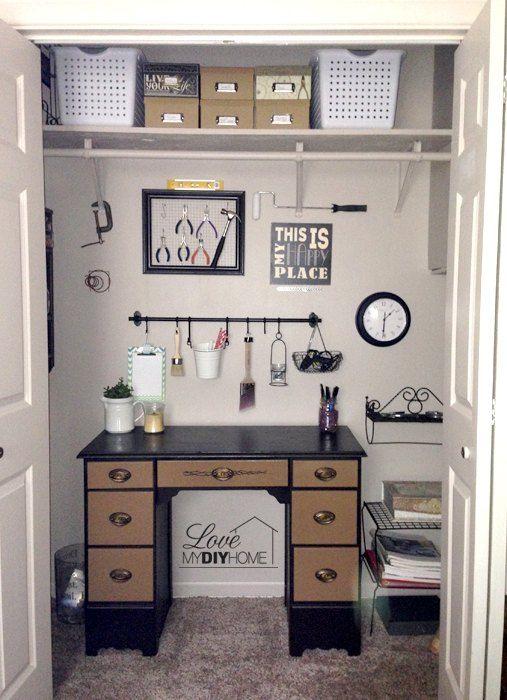 Craft Room Closet Makeover {Love My DIY Home)
