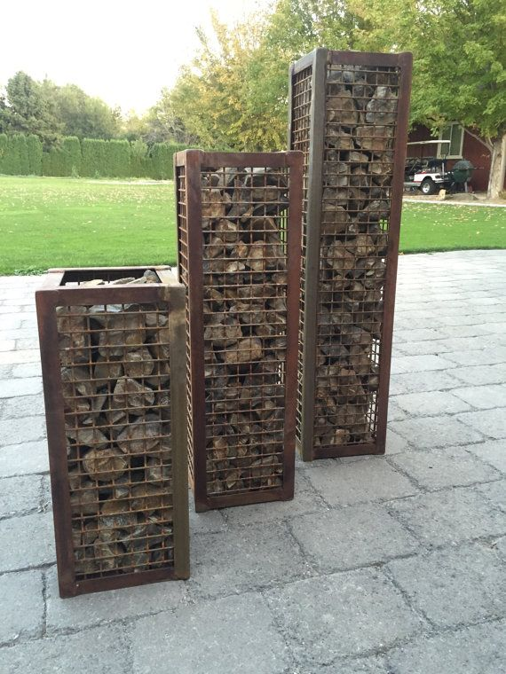 Made From 1 Angle Iron 1 Wire Mesh Filled With Basalt