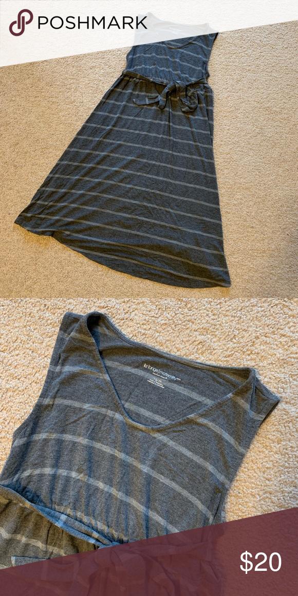 a79bf1746521c Liz Lange Maternity dress gray stripe XS Small Liz Lange Maternity from  Target grey tank dress