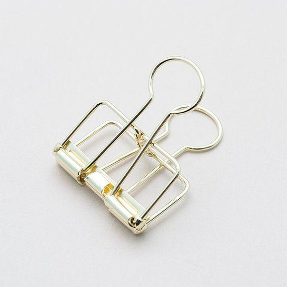 Medium Gold Binder Clip Frame Clip Perfect By HopscotchLondon