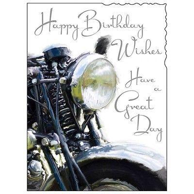Birthday Card Male Motorbike Luxury Card Top Quality Nicest Design Happy Birthday Cards Happy Birthday Motorcycle Happy Birthday Man