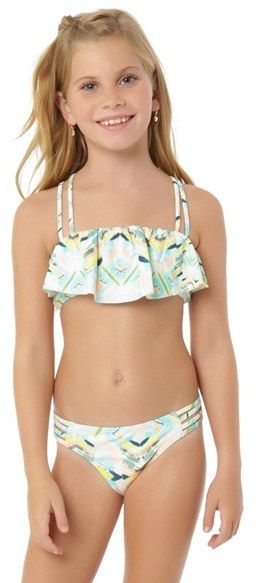 a996031f1960 O'Neill 'Cabo' Ruffle Two-Piece Swimsuit (Little Girls & Big Girls ...