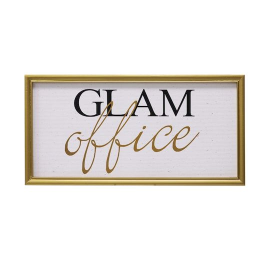 Buy The Glam Office Wall Sign By Ashland® At Michaels