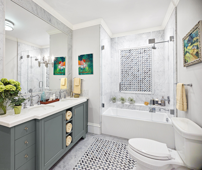 Before And After A Small Bath Gets An Artful Upgrade Easy Bathroom Upgrades Simple Bathroom Shiplap Bathroom