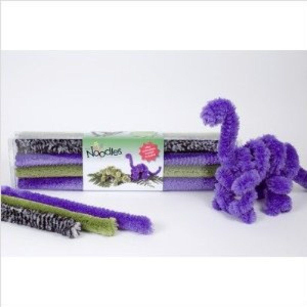 Dino Kit Brain Noodles - This small kit is recommended for children ages 5 and up. It is a great gift for the creative child. The brain noodles can bend any way you want and be reused time and time again for endless creations! This kit gives examples of how to create different coloful dinosaurs.