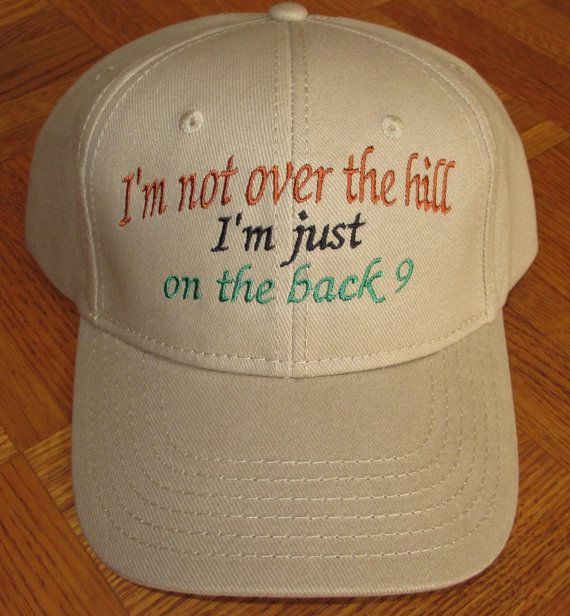 I'm not over the hill Golf Cap by CreativeSenseCom on Etsy