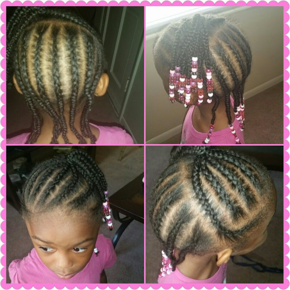 Little Girls Braided Hairstyle Easy Beads Braids Hairstyle For Beginners Little Girl Braid Hairstyles Braids For Black Hair Braided Hairstyles Easy