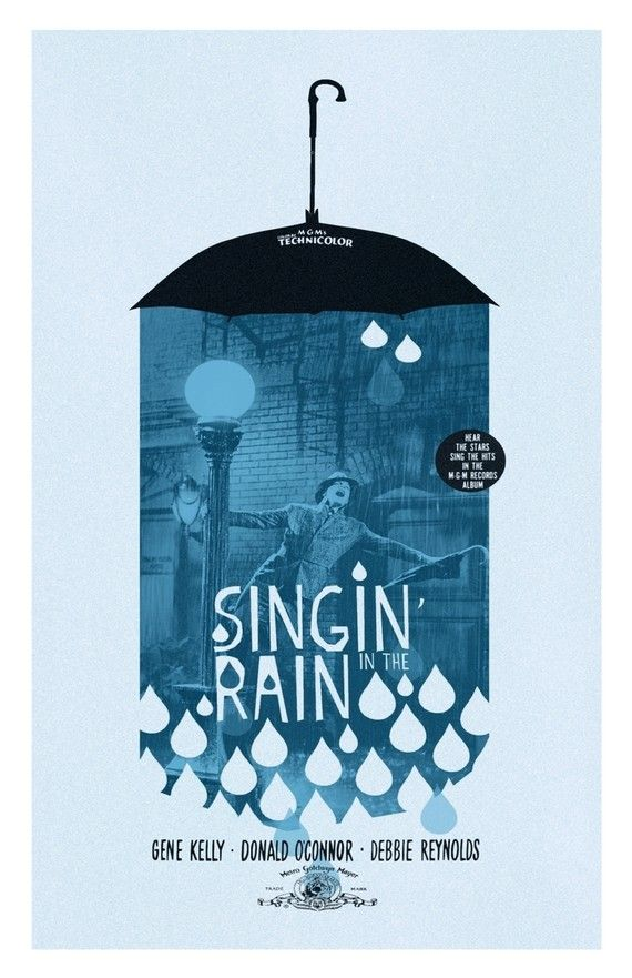 Singin In The Rain Poster By Theartofadamjuresko On Etsy Graphic Design Inspiration Poster Design Graphic Design Poster