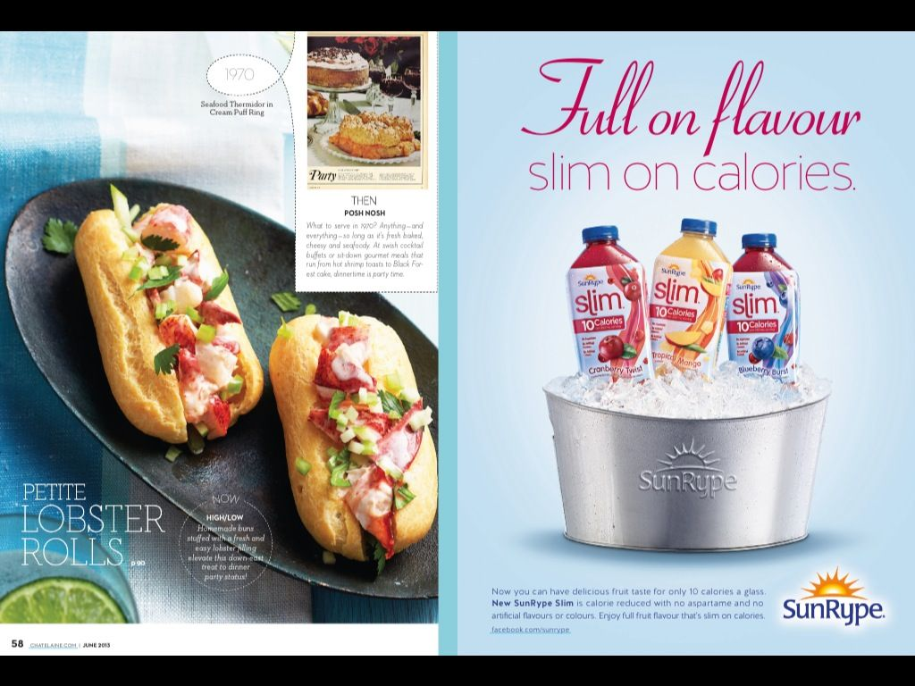 Chatelaine June 2013 Recipe Revival Editorial Layout Pinterest