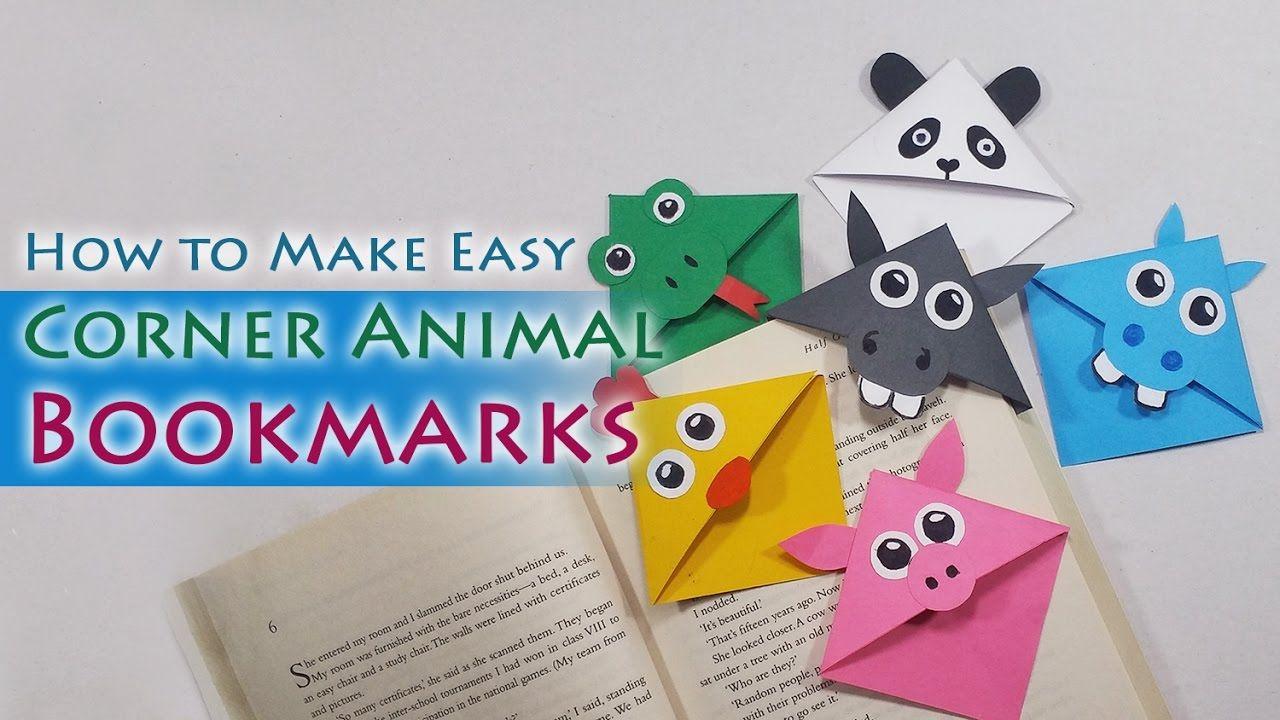Diy Cute Animal Bookmarks How To Make Cute Animal Corner Bookmarks Bookmarks Kids Corner Bookmarks Bookmark Craft