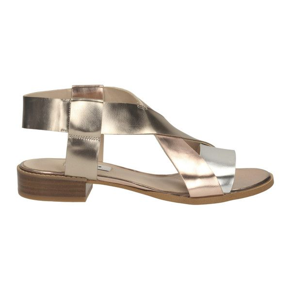 ae2abe7fd15f4e Clarks Women s Bliss Meadow Gladiator Sandals - Metallic Combi (2195 NIO) ❤  liked on Polyvore featuring shoes
