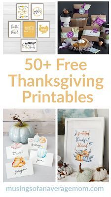 Thanksgiving decorations #50freeprintables
