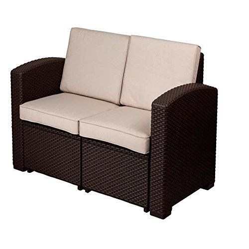 Patio Furniture Loveseat With Cushions Patio Contemporary Loveseat