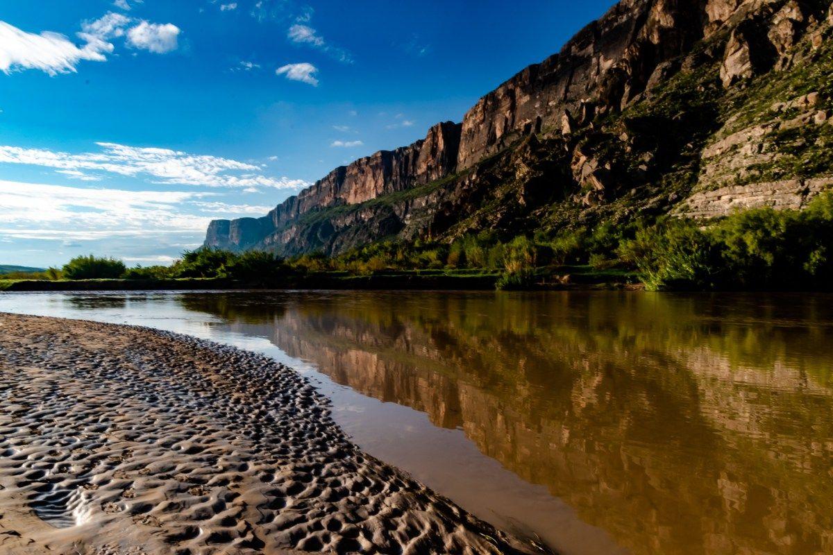 PhotoPOSTcard: Rio Grande Reflection #bigbend #riogrande #santaelenacanyon
