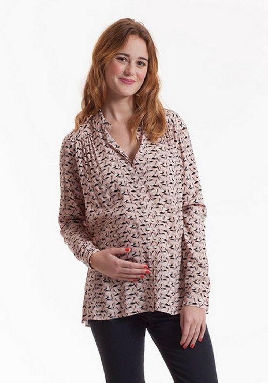 vente énorme qualité parfaite choisissez le dégagement Chemisier de #grossesse et #allaitement Frédérique #imprimé ...