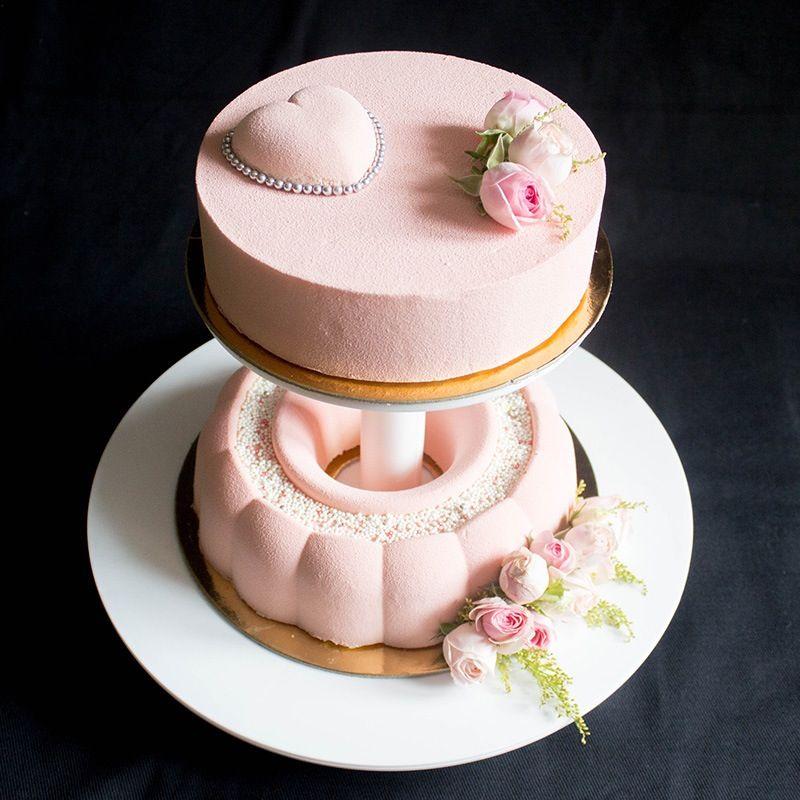 Муссовый свадебный торт