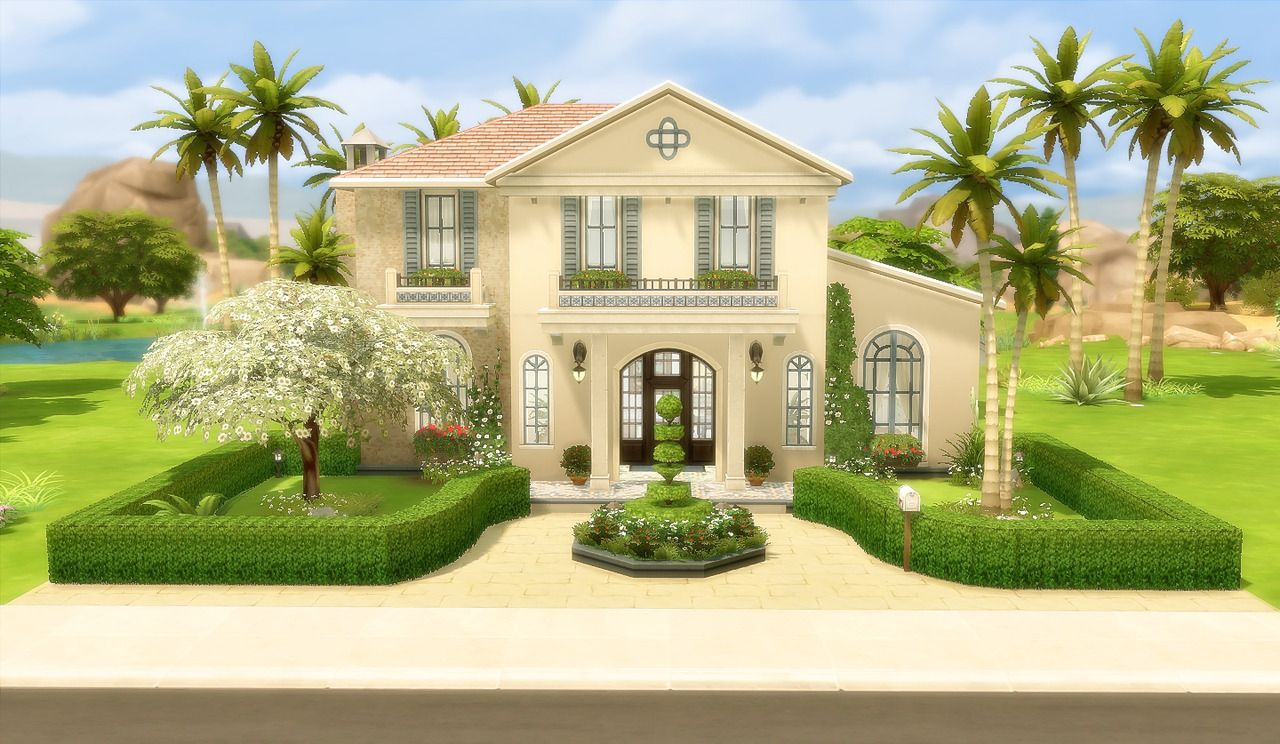 Lana Cc Finds Viasims House 49 Oasis Springs No Cc Sims 4 Houses Sims House Sims Building