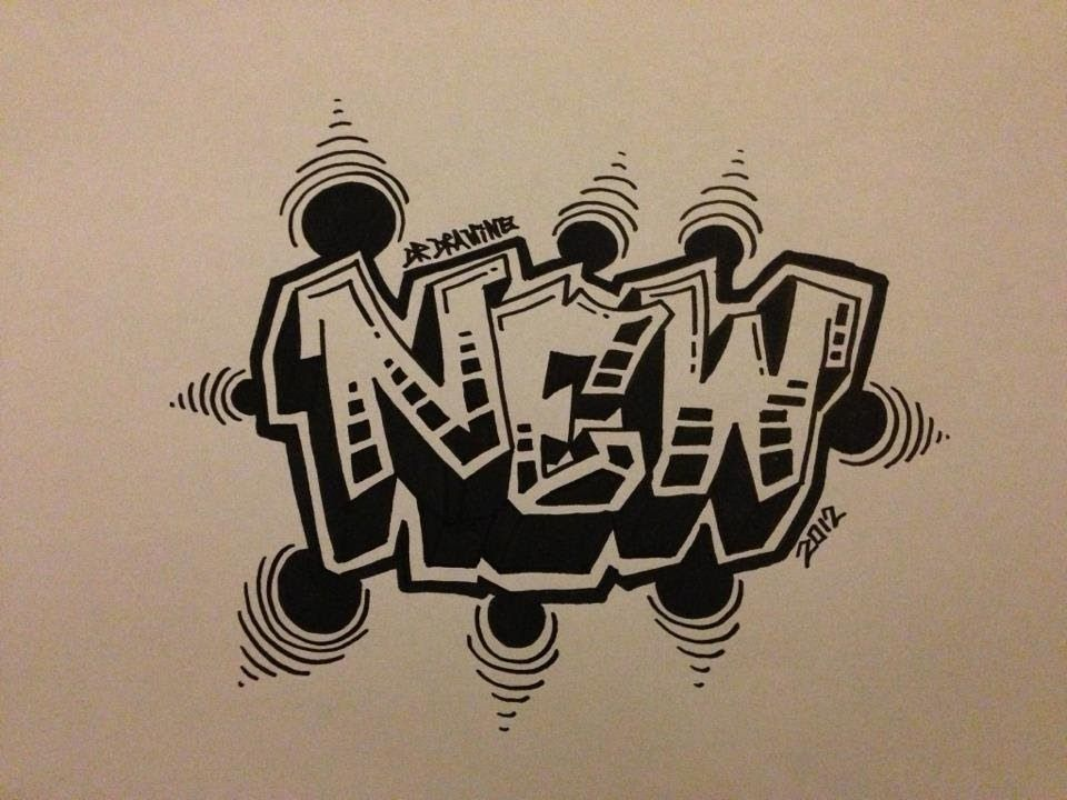 How To Draw Graffiti Letters New Style  Fab Tutorial And Love The Infill