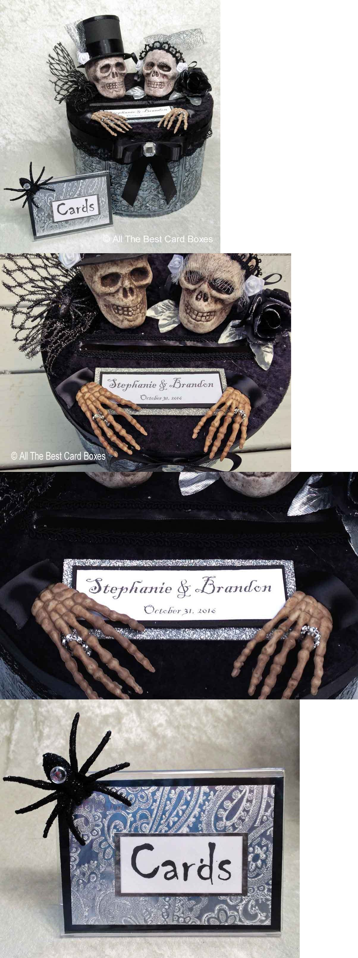 Card Boxes and Wishing Wells 168189 Gothic Skull Wedding Card Box – Ebay Wedding Card Box