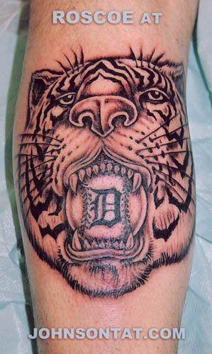 Detroit tiger baseball tattoo by roscoe johnson tattoo for Tattoos in detroit