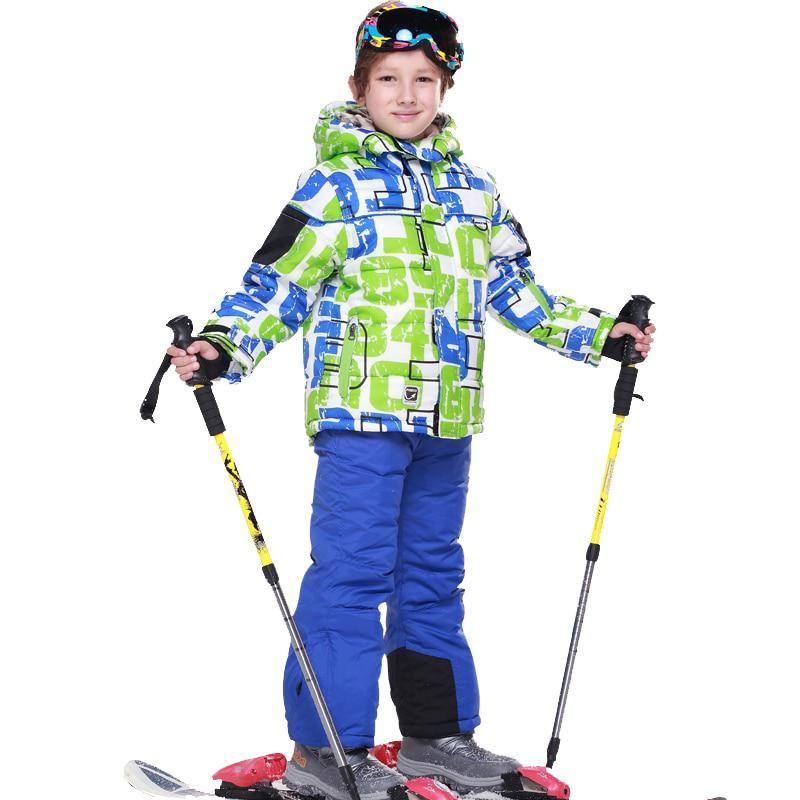 f711bb3f6ed6 6~15T Children Waterproof Ski Suit Jackets Winter Boys Snow Wear Boy ...