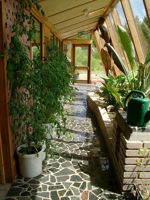 Earthship sunroom