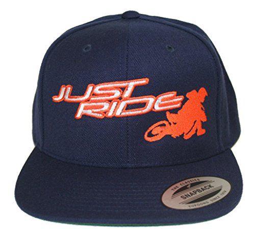 3ea07f0e8c9 Just Ride Back It In Supermoto Motocross Hat Flat Bill Sn... https
