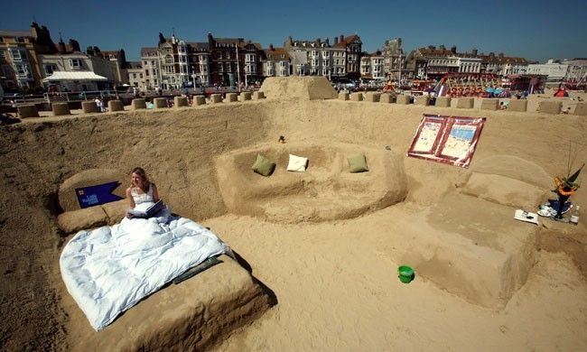 Sand Hotel In Dorset England Everything Is Made Out Of Sand