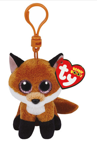 TY Beanie Boo Slick the Fox Keyring Clip - X  e1c40994101c