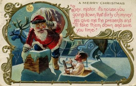 These vintage Christmas greeting cards about Santa Claus are so ...
