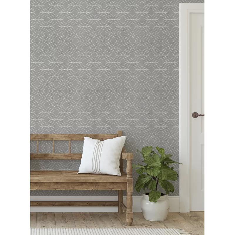 Beldale Diamond Art Deco Lines Texture Peel And Stick Wallpaper Panel Wallpaper Panels Peel And Stick Wallpaper Traditional Wallpaper