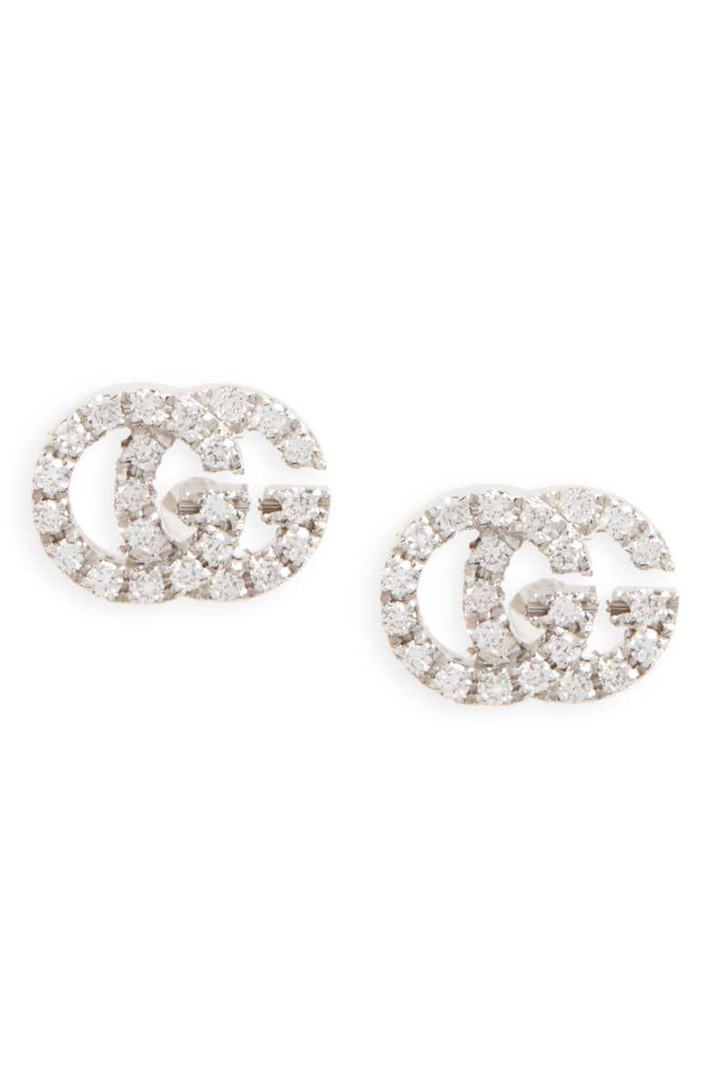 f2cc915cdd5 GUCCI Double-G Diamond Stud Earrings