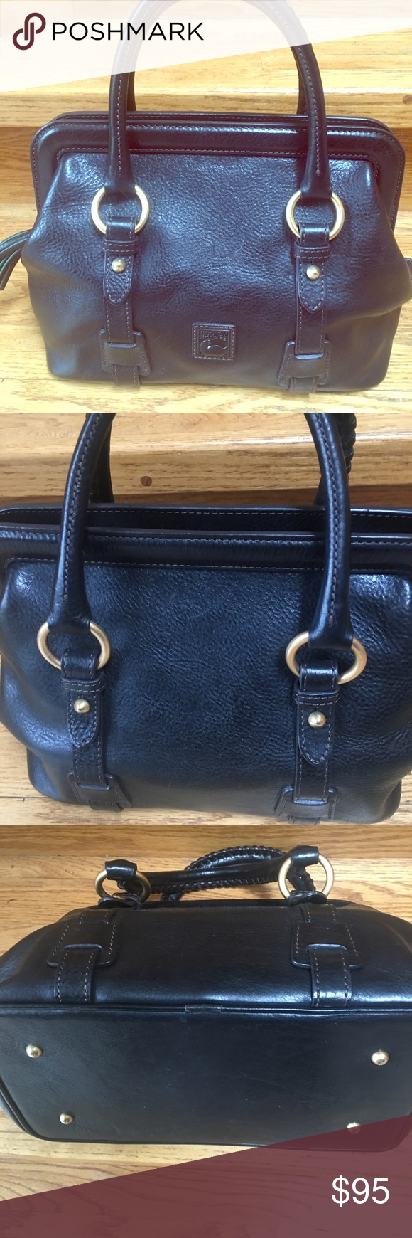 df17db77f13657 Dooney and Bourne used purse Small Mitchell Leather Satchel please note  this purse does not have a shoulder strap. Lightly used Dooney & Bourke Bags  ...