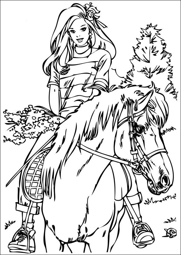 horses_3 Adult coloring pages Coloring pages for Adults - copy coloring pages of barbie a fashion fairytale