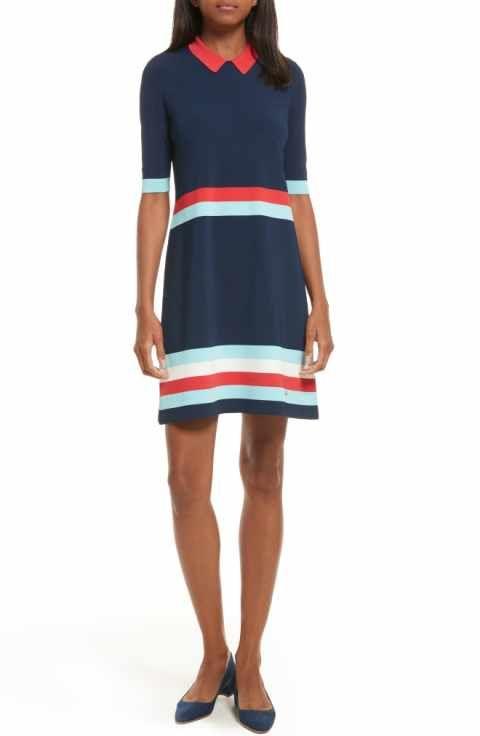 4a426fe9f Ted Baker London Origami Stripe Knit Dress
