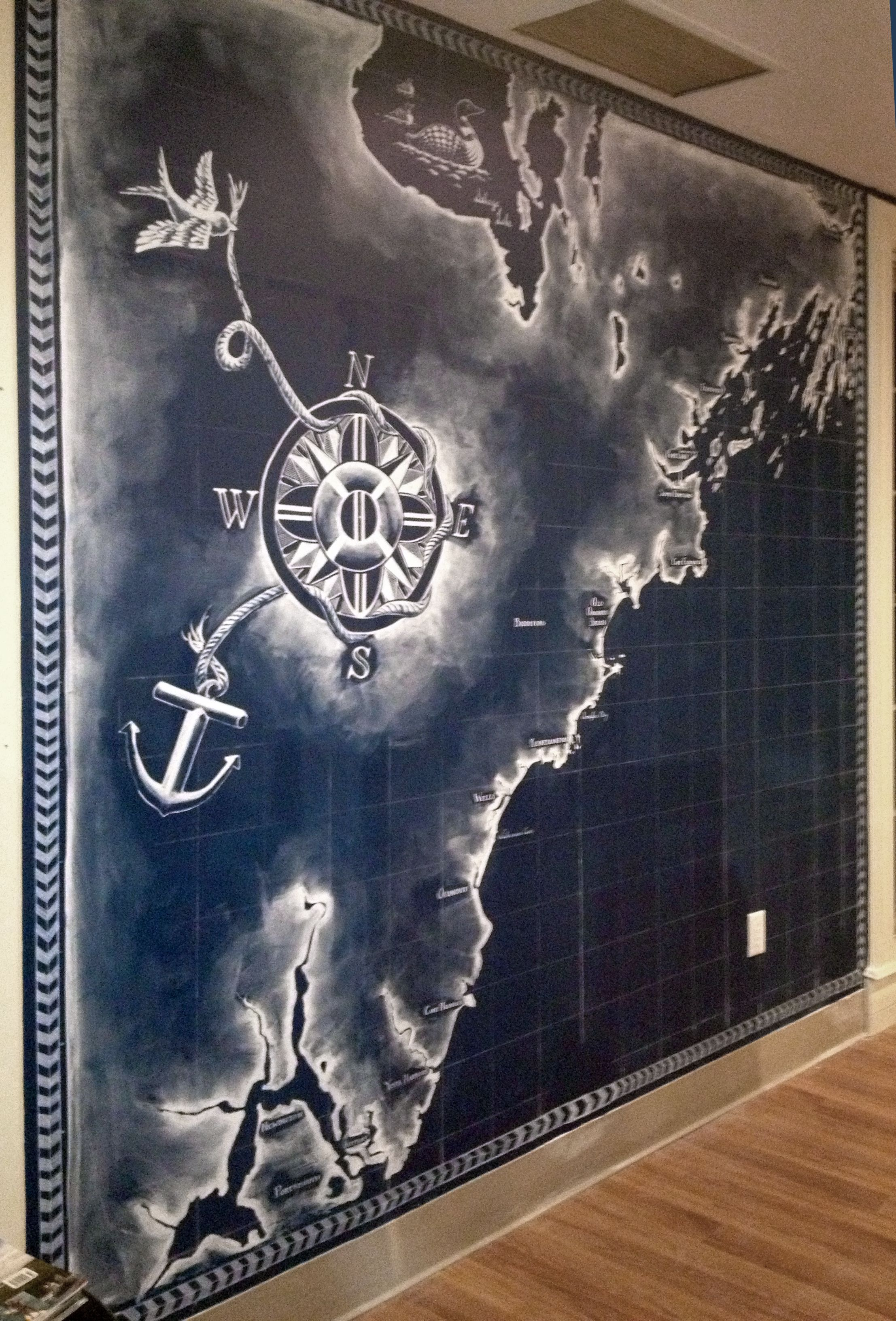 Coast Of Maine Mural For Maine Surfers Union By Tessa O Brien Www Tessagreenobrien Com Mural Art Surfer