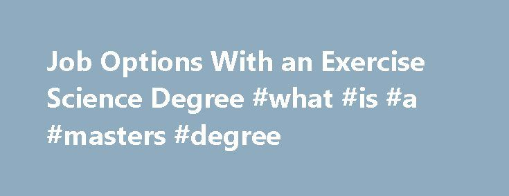 jobs with exercise science degree