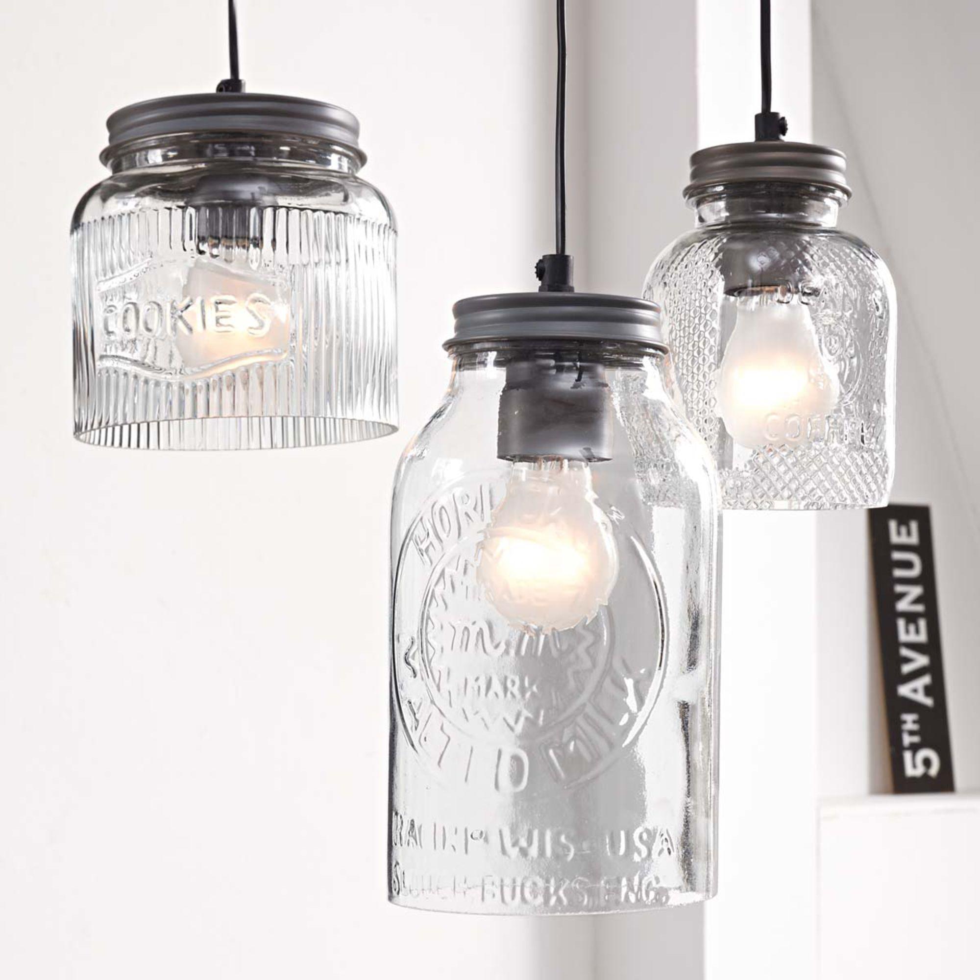 Inspiration Mason Jars Embossed Mason Jar Pendant Lamps Deckenleuchten Schone Lampen Glas